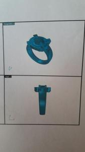 Ontwerp voor een gouden ring (2)